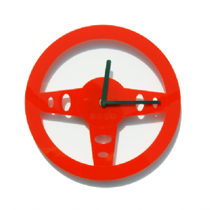 Drive - Steering Wheel Wall Clock- Red